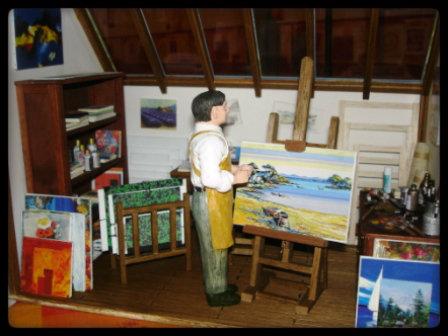 vitrine miniature atelier de peintre. Black Bedroom Furniture Sets. Home Design Ideas