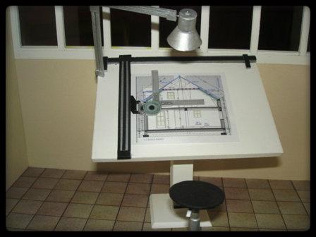 Vitrine miniature architecte for Table a dessin architecte
